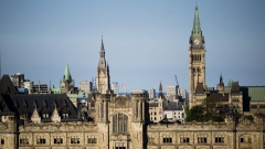Parliament Hill stands in Ottawa, Ontario, Canada, on Thursday, Aug. 16, 2018. It makes sense for the U.S. and Mexico to meet bilaterally on Nafta on certain issues and Canada looks forward to rejoining talks on the trilateral pact in the coming days and weeks, Prime Minister Justin Trudeau said.