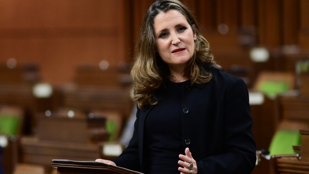Minister of Finance Chrystia Freeland