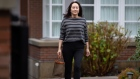 Meng Wanzhou, chief financial officer of Huawei Technologies Co., leaves her home to attend Supreme Court for a hearing in Vancouver, British Columbia, Canada, on Wednesday, Nov. 25, 2020. Meng was charged in 2019 with fraud and is currently fighting extradition to the U.S. from Canada.