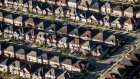 Homes stand in this aerial photograph taken above Toronto, Ontario, Canada, on Monday, Oct. 2, 2017. Toronto housing prices fell for a fourth month in September as sales remained sluggish, particularly in the detached-home segment that has borne the brunt of the correction in Canada's biggest city. Photographer: James MacDonald/Bloomberg