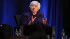 Janet Yellen, former chair of the U.S. Federal Reserve, speaks during the American Economic Association and Allied Social Science Association Annual Meeting in Atlanta, Georgia, U.S., on Friday, Jan. 4, 2019. Federal Reserve Chairman Jerome Powell said the central bank can be patient as it assesses risks to a U.S. economy and will adjust policy quickly if needed, but made clear he would not resign if President Donald Trump asked him to step aside.