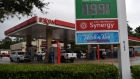 Vehicles refuel at an Exxon Mobil Corp. gas station in Houston, Texas, U.S., on Wednesday, Oct. 28, 2020. Exxon is scheduled to release earnings figures on October 30.