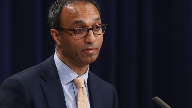 WASHINGTON, DC - MAY 31: Judge Amit Mehta, of the U.S. District Court for the District of Columbia, speaks during the Justice Department's Asian American and Pacific Islander Heritage Month Observance Program, at the Justice Department, on May 31, 2017 in Washington, DC. (Photo by Mark Wilson/Getty Images)