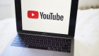 The logo for YouTube Inc. is displayed on a laptop computer in an arranged photograph taken in the Brooklyn borough of New York, U.S., on Sunday, May 10, 2020. The video arm of Alphabet Inc.'s Google is offering new tools and audience statistics specifically for advertising on TV - screen space where YouTube has trailed cable channel. Photographer: Gabby Jones/Bloomberg