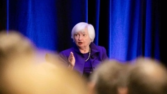 ATLANTA, GA - JANUARY 04: Former Chair of the Federal Reserve Janet Yellen during a panel discussion at the American Economic Association conference on January 4, 2019 in Atlanta, Georgia. Following a strong December jobs report, the Dow Jones Industrial Average rose 350 points at the open on Friday morning. In a television interview on Friday morning, National Economic Council Director Larry Kudlow said he believes there is 'no recession in sight.' (Photo by Jessica McGowan/Getty Images)