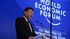 Xi Jinping, China's president, speaks during the opening plenary session of the World Economic Forum (WEF) annual meeting in Davos, Switzerland, on Tuesday, Jan. 17, 2017. World leaders, influential executives, bankers and policy makers attend the 47th annual meeting of the World Economic Forum (WEF) in Davos from Jan. 17-20.