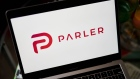 The Parler logo on a laptop computer arranged in the Brooklyn borough of New York, U.S., on Friday, Dec. 18, 2020. Parler bills itself as a non-biased social network that protects free speech and user data. John Matze, chief executive officer, says the platform saw great growth during the 2020 election as many conservatives moved away from products like Facebook and Twitter. Photographer: Gabby Jones/Bloomberg
