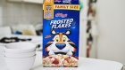 Kellogg Co. Frosted Flakes brand cereal is arranged for a photograph in the Brooklyn Borough of New York, U.S., on Friday, July 24, 2020. Kellogg Co. is scheduled to release earnings figures on July 30. Photographer: Gabby Jones/Bloomberg