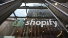 Signage is displayed on the Shopify Inc. headquarters in Ottawa, Ontario, Canada, on Thursday, May 7, 2020. Ottawa-based Shopify edged past Royal Bank of Canada to become the largest publicly listed company in Canada. Photographer: David Kawai/Bloomberg