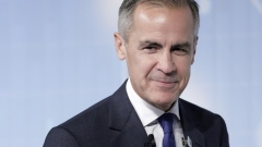 Mark Carney, governor of the Bank of England (BOE), leaves the stage after speaking at the Task Force on Climate-related Financial Disclosures (TCFD) Summit in Tokyo, Japan, on Tuesday, Oct. 8, 2019.
