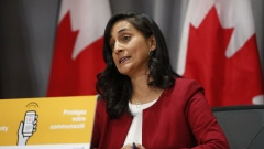 Anita Anand speaks during an Ottawa news conference in September.