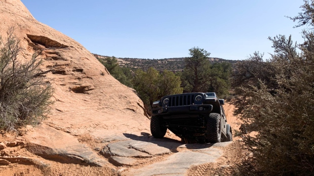 Jeep says deliveries of the Rubicon 392 will not be delayed due to the extensive semiconductorchip shortage that has affected other models in its lineup. Deliveries begin this spring.  Photographer: Hannah Elliott/Bloomberg