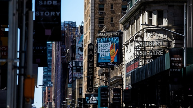 All Broadway theaters were shut down to curb the spread of the coronavirus in March 2020.