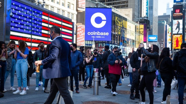 Coinbase's whipsaw debut takes it past US$100 billion, then back -  BNN Bloomberg