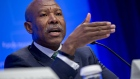 Lesetja Kganyago, governor of South Africa's reserve bank, speaks during a International Monetary Fund Committee (IMFC) news conference at the spring meetings of the International Monetary Fund (IMF) and World Bank in Washington, D.C., U.S., on Saturday, April 21, 2018. The IMF said this week the world's debt load has ballooned to a record $164 trillion, a trend that could make it harder for countries to respond to the next recession and pay off debts if financing conditions tighten.