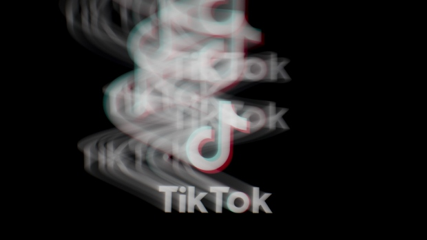 The logo for ByteDance Ltd.'s TikTok app is arranged for a long exposure photograph on a smartphone in Sydney, New South Wales, Australia, on Monday, Sept. 14, 2020.