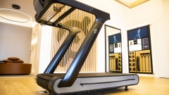 A Peloton Interactive Inc. Tread exercise machine for sale at the company's showroom in Dedham, Massachusetts, U.S., on Wednesday, Feb. 3, 2021. Peloton Interactive Inc. is scheduled to release earnings figures on February 4.