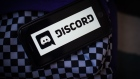 The Discord Inc. application on a smartphone arranged in Hastings-on-Hudson, New York, on Tuesday, March 23, 2021. Microsoft Corp. is in talks to acquire Discord Inc., a video-game chat community, for more than $10 billion, according to people familiar with the matter.