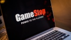 The GameStop Corp. logo on a laptop computer arranged in Hastings-On-Hudson, New York, U.S., on Friday, Jan. 29, 2021. GameStop Corp. advanced on Friday and was on track to recoup much of Thursdays $11 billion blow after Robinhood Markets Inc. and other brokerages eased trading restrictions on the video-game retailer. Photographer: Bloomberg/Bloomberg