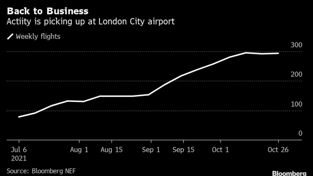 London City Airport in London. Photographer: Chris Ratcliffe/Bloomberg