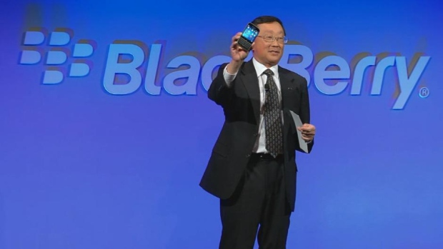 BlackBerry up nearly 11% after report says it's a likely acquisition target