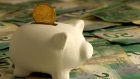 Piggy Bank loonie savings personal finance canadian currency canadian money
