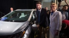 PM Justin Trudeau and Ontario Premier Kathleen Wynne at GM