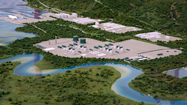 Proposed LNG plant and terminal in Kitimat, B.C.