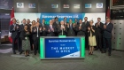 Euromax Resources board members and dignitaries open the market on July 22, 2016