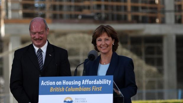 Premier Christy Clark and Finance Minister Michael de Jong