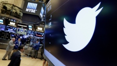Twitter symbol on the New York Stock Exchange