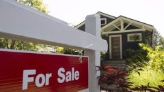 A sold sign is pictured outside a home in Vancouver