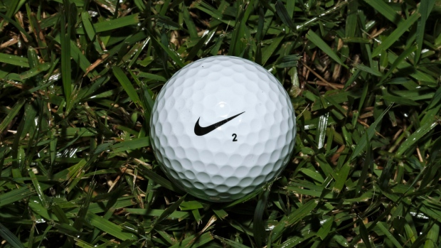A Nike One golf ball is seen Friday, June 21, 2013, in Tampa, Fla.