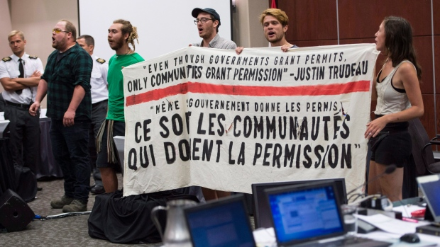National Energy Board cancels first day of Energy East hearings after protests
