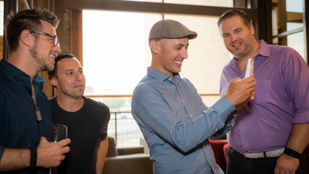 Shopify CEO Tobi Lütke and Shopify's Waterloo General Manager Loren Padelford