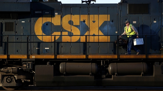 CSX takes revenue, freight volume hit, but beats expectations