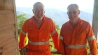 K92 Directors, CEO Ian Stalker and COO John Lewins onsite in Papua New Guinea