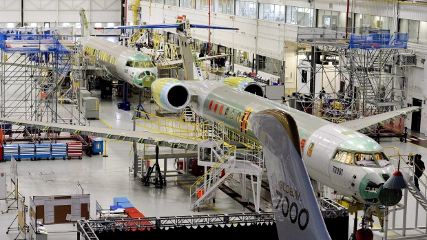Bombardier Global 7000 aircraft and facility in Toronto