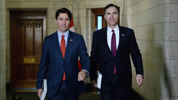 Prime Minister Justin Trudeau with Finance Minister Bill Morneau