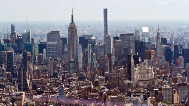 New York City skyline as seen from One World Observatory