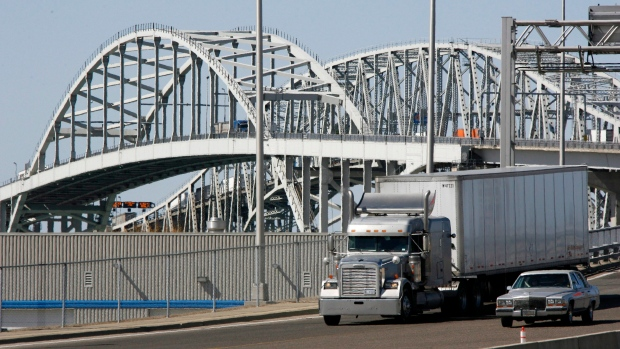 Blue Water Bridge, Canada's second-busiest border crossing to the United States.