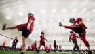 Calgary Stampeders practice ahead of the 104th Grey Cup against the Ottawa Redblacks