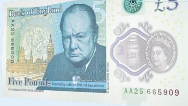 Britain's new five pound bank note
