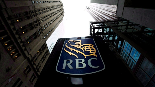 A Royal Bank of Canada sign is pictured in downtown Toronto