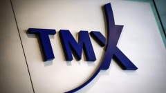 A TMX Group sign, the company that runs the Toronto Stock Exchange (TSX)