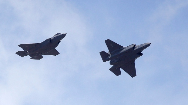 Two F-35 jets arrive at Hill Air Force Base, in northern Utah.