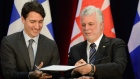 Prime Minister Justin Trudeau and the Premier of Quebec Philippe Couillard
