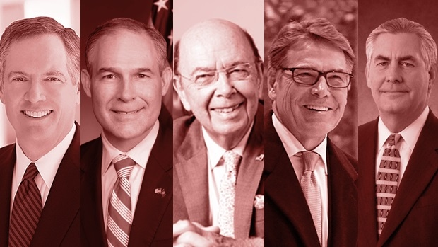 Trump's cabinet picks: Robert Lighthizer, Scott Pruitt, Wilbur Ross, Rick Perry, Rex Tillerson