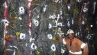 Blast face loaded underground at K92's Irumafimpa gold deposit.