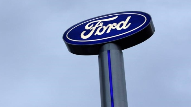 A Ford logo is pictured at a car dealership in Monterrey, Mexico, November 9, 2016.